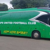 The Zimbabwe Revenue Authority seize Caps United Bus!!