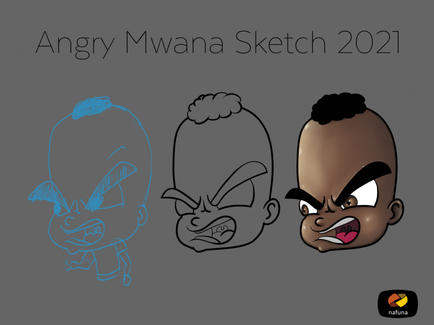 Angry Mweana Character design sample